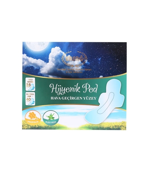 Hygienic night and daily pads (28+40 pieces)